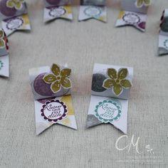 Caros Bastelbude: Goodies für meine Gäste, DSP Mondschein, Petite Petals, Stampin' Up! Ferrero Küsschen