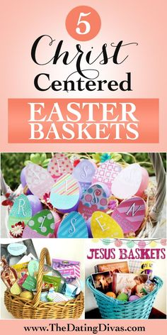 Love the idea of Christ-centered Easter baskets. Still fun, but focuses on the real reason for the holiday. www.TheDatingDivas.com