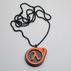 Half-life 2 Pendant on a black chain