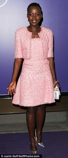 Dressed to impress: The talented 12 Years A Slave actress  positively stole the show as she joined the likes of leading lady Amy Adams on th...