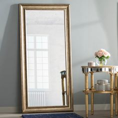 Willa Arlo Interiors Northcutt Modern and Contemporary Beveled Full Length Mirror Finish: Gold Long Mirror, Round Wall Mirror, Beveled Mirror, Dresser With Mirror, Full Length Mirror Glam, Beveled Glass, Large Mirrors, Decorative Mirrors, Mirror Set