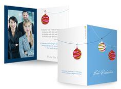 Geschäftliche Weihnachtskarten Rund und bunt Fröhlich, knallig, farbenfroh kommt diese Karte mit weihnachtlichem Motiv daher und versetzt die Empfänger direkt in gute Laune.