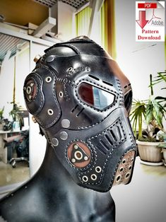 Pattern PDF leather Steampunk/Dieselpunk mask V19 | Etsy