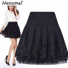 2017 Tulle faldas Curta Saia De Renda Femininas High Waist Short Lace Tutu Skirt Female Pleated Women Skirts saias jupe C157