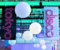 Divine Events were recently asked to help style a corporate event under the vibrant theme of Tokyo Disco at the Hyatt Regency Sydney. Ceiling Installation, Corporate Events, Regency, Sydney, Tokyo, Vibrant, Neon Signs, Fun, Color