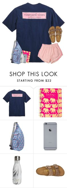 """Think I'm going to delete poly."" by sassysouthernprep99 ❤ liked on Polyvore featuring Vineyard Vines, Lilly Pulitzer, Kavu, S'well and Birkenstock"