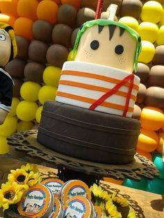 Bolo Cenográfico Chaves - Locação Cake Models, Fake Cake, Character Cakes, Cake Boss, Cakes For Boys, 3rd Birthday Parties, Diy Party Decorations, Baby Party, Confectionery