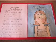 10 things I know about my mom. Might be a cute class literacy experience to just ask each child to name one thing, in our case, and make a single class list.