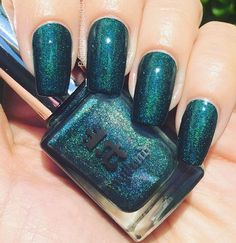 """..And then there was my favorite teal polish ever: """"Saint George"""" by @aengland_official .  There are no words for how magical this polish is.  Deep teal with the most incredible micro shimmer.. One coat with top coat.  Flawless formula.  Everyone needs this one.."""
