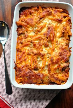 Can't wait to try this baked mostaccioli