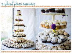 Cupcake tower!! Wedding at Emerald Bay in Laguna Beach
