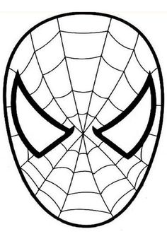 Free printable, spiderman mask template | Art lessons and ...