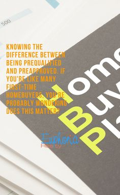 Knowing the difference between being prequalified and preapproved. If you're like many first-time homebuyers, you're probably wondering does this matter? First Home Buyer, Home Buying Process, Advertise Your Business, Real Estate Broker, Dallas Texas, Real Estate Investing, Inbound Marketing, Credit Score, Real Estate Marketing