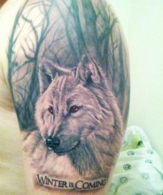 Wolf with red eyes in woods tattoo. Find and save ideas about Wolf with red eyes in woods tattoo on Tattoos Book. More than FREE TATTOOS Game Of Thrones Tattoo, Wolf Tattoo Design, Wolf Tattoos, Tatoos, Native Tattoos, Skull Tattoos, Wolf With Red Eyes, Javi Wolf, Ghost Tattoo