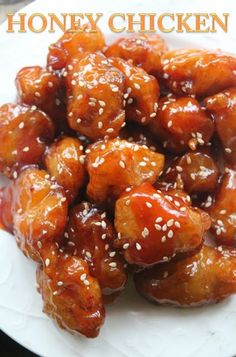 Addictive Honey Chicken Recipe- This Chinese Food Recipes was brilliant i re.- Addictive Honey Chicken Recipe- This Chinese Food Recipes was brilliant i really liked it! Chicken Thights Recipes, Chicken Parmesan Recipes, Grilled Chicken Recipes, Recipe Chicken, Chicken Meals, Simple Honey Chicken Recipe, Oven Chicken, Chicken Bites, Recipe With Honey