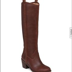 """Final Reduction Lucky Brand Looloo Tall Boots Brand new still in box Lucky Brand leather boots. 2.4"""" heel. Brown in color Lucky Brand Shoes Heeled Boots"""