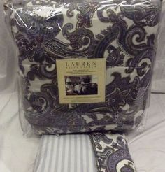 $500 Ralph Lauren Harbor Island Paisley Blue White King Comforter 4 pc Set  NEW #RalphLauren