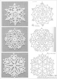 PP said: Note to self- crochet these with huge hook, would look great really big. I say: Why the hell not?lots of motif patternsLove this, you could change the back ground to your liking! except its crochet Crochet Snowflake Pattern, Crochet Stars, Crochet Snowflakes, Crochet Motifs, Thread Crochet, Crochet Doilies, Crochet Flowers, Crochet Stitches, Crochet Patterns