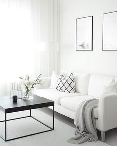 Find your favorite Minimalist living room photos here. Browse through images of inspiring Minimalist living room ideas to create your perfect home. Elegant Living Room, Living Room White, Home Living Room, Living Room Designs, Living Room Decor, Living Spaces, Small Living, Modern Living, Cozy Living