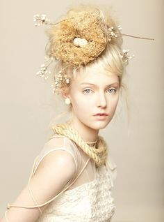 lovely photo; I adore the whimsical hair piece