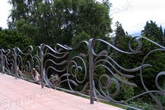 The design of these railings reflects the flow of water through the nearby Menai Straits