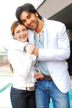 Ranbir Kapoor and his sister Riddhima Kapoor <3