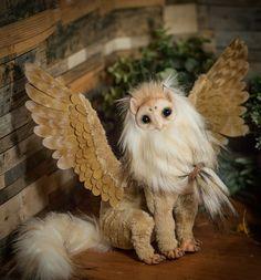 Gryphon poseable art doll owl tyto alba by Furrykami-creatures.deviantart.com on @DeviantArt
