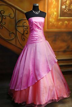 Pink and orange gown