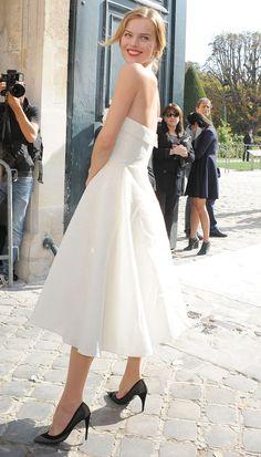 Eva Herzigova at the Dior at the Spring-Summer 2014 Ready-to-Wear show.