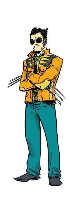Andy MacDonald fashions - the well dressed mutant Marvel Heroes, Marvel Comics, Comic Books Art, Comic Art, Andy Macdonald, Design Comics, Superhero Villains, Cultura Pop, Wolverine