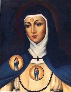 La Virgen María se le apareció con hábito blanco y manto azul y el Niño Jesús en brazos
