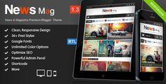 News Mag - Responsive Magazine Blogger Template - Blogger Blogging