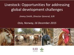 Livestock: Opportunities for addressing global development challenges Jimmy Smith, Oslo, Norway, 16 Dec 2015