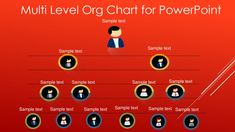 Multi-Level Org Chart for PowerPoint Powerpoint 2010, Microsoft Powerpoint, Organizational Chart, Professional Powerpoint, Color Themes, Templates, Stencils, Vorlage, Models