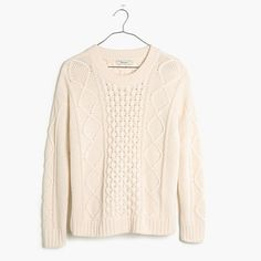 Sometimes we're all about hitting repeat on the classics. Case in point: this traditional and supercozy cableknit style. It's pretty much the timeless sweater of our dreams. <ul><li>True to size.</li><li>Cotton/viscose/nylon.</li><li>Hand wash.</li><li>Import.</li></ul>