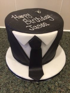 Tuxedo / suit and Tie birthday cake