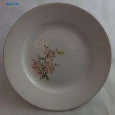 H 895 PIATTO VINTAGE IN CERAMICA LAVENO CON DECORO FLOREALE - http://www.okaffarefattofrascati.com/?product=h-895-piatto-vintage-in-ceramica-laveno-con-decoro-floreale