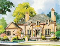 Eplans French Country House Plan - Old World Charm - 3697 Square Feet and 5 Bedrooms from Eplans - House Plan Code HWEPL12803