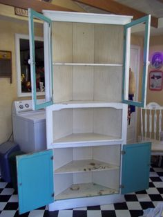 """BEFORE: Corner Cabinet..another """"Cheap is good, free is better"""" project"""