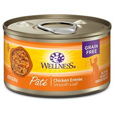 cat food can - Wellness Natural Grain Free Wet Canned Cat Food, Chicken Pate, 3-Ounce Can (Pack of 24) -- Check out the image by visiting the link. (This is an affiliate link) #CatFood