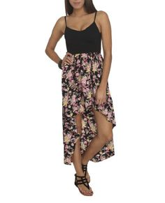 Wet Seal Womens Floral 2fer High-low Dress