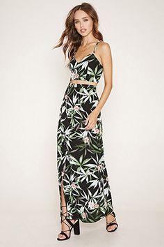 4697469462b Tropical Floral Maxi Skirt Music Festival Fashion