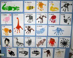 Kara's Classroom: A-Z Handprint Art