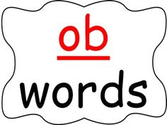 Students practice reading words in the -ob word family as you go through the power point presentation. This is a great activity for introducing a new word family or for rhyming.  Be the first to know about my sales, freebies and new products:  • Look for the green star next to my store logo and click it to become a follower.