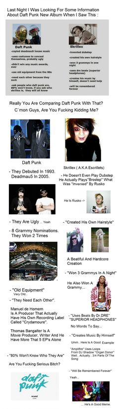 Daft Punk Vs Skrillex // funny pictures - funny photos - funny images - funny pics - funny quotes - #lol #humor #funnypictures