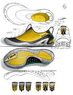 Teva aqua sock by Larry Selbiger at Futuristic Shoes, Sneakers Sketch, Aqua Socks, Bag Illustration, Colors And Emotions, Shoe Sketches, Industrial Design Sketch, Car Design Sketch, Custom Socks