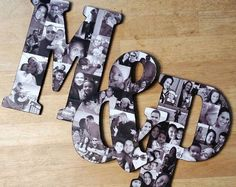Letter Photo Collage, Photo Letters, Photo Collages, Photo Collage Gift, Wood Letters, Cute Boyfriend Gifts, Boyfriend Anniversary Gifts, Country Boyfriend Gifts, Diy Birthday