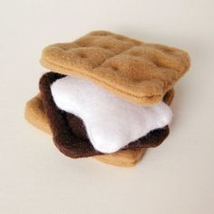 Felt Food S'Mores with Chocolate Marshmallow by bugbitesplayfood, $8.00