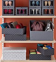 Beautify your closet with these pretty closet organizers from the Container store