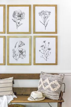 Framed Botanical Prints, Botanical Art, Free Prints, Wall Prints, Free Printable Art, Free Poster Printables, Boho Home, New Wall, Modern Minimalist